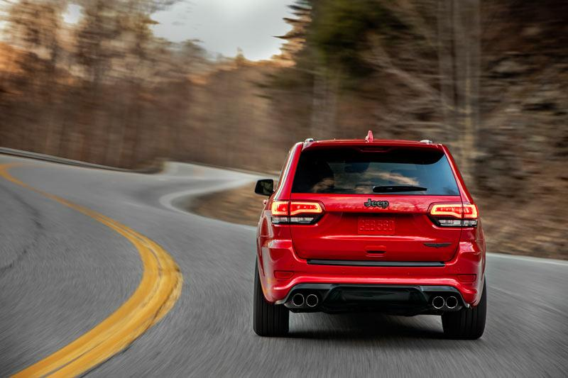 Jeep Grand Cherokee Trackhawk 700PS Exterieur red