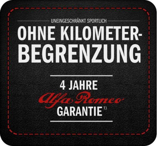 Alfa Romeo 4 Jahre Garantie
