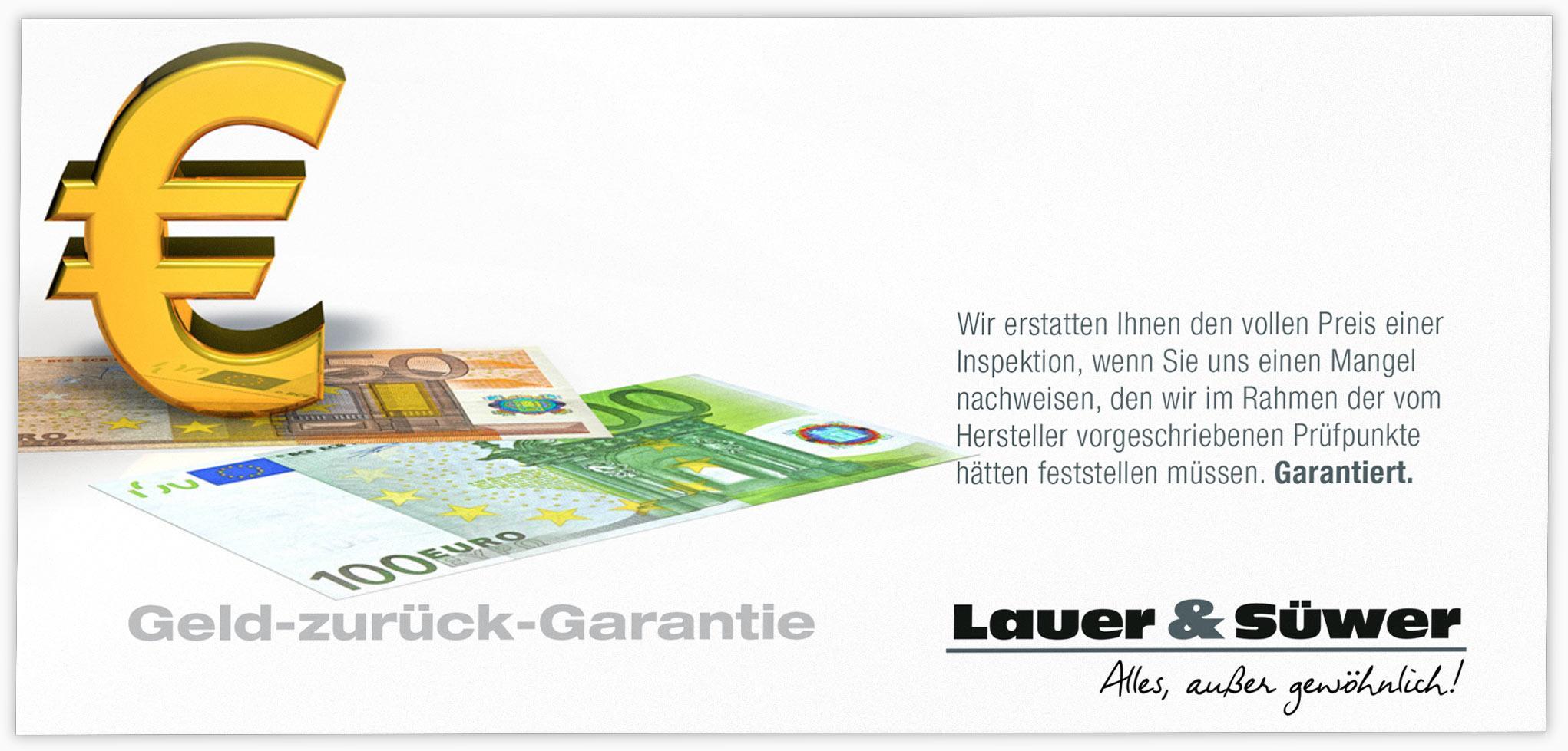 lauer s wer geld zur ck garantie titelbild. Black Bedroom Furniture Sets. Home Design Ideas