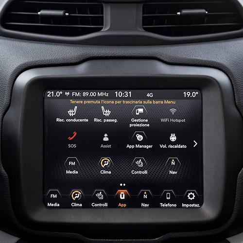 Jeep Renegade Limited Uconnect Navigationssystem in unserem Angebot schon enthalten