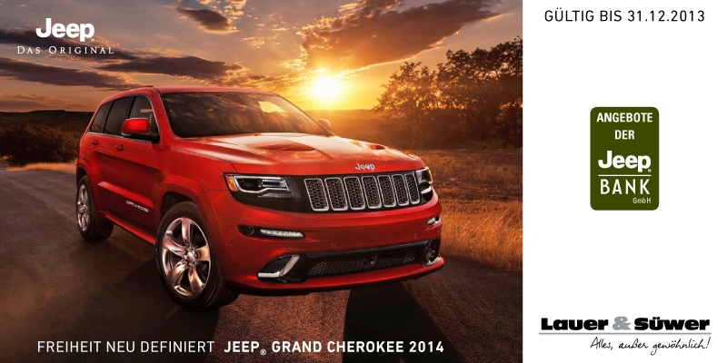 Sonderaktion Jeep Grand Cherokee bis 31.12.2013